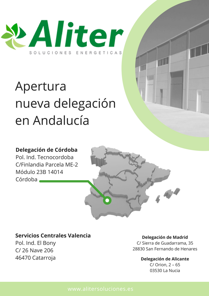 Apertura nueva delegaci n andaluc a aliter soluciones for Piscina cubierta catarroja
